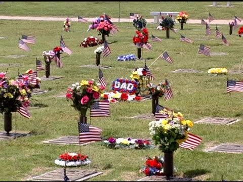 vídeos y material grabado en eventos de stock de bandera de cementerio de memorial day - memorial day