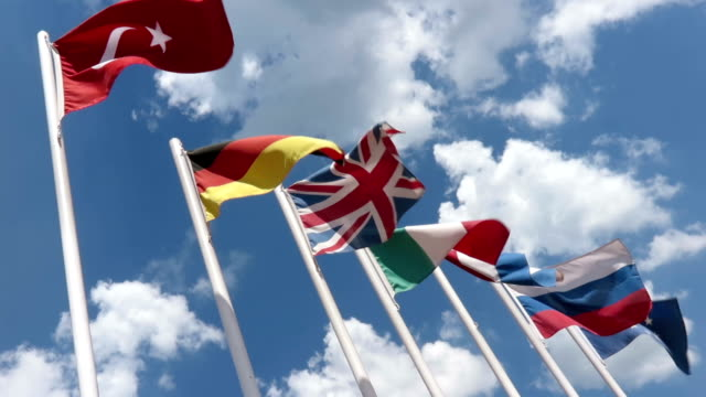 Flags of Some European Countries video