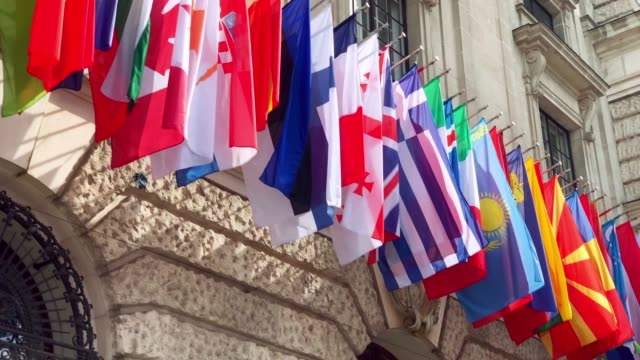 flags of the world - bandiera nazionale video stock e b–roll