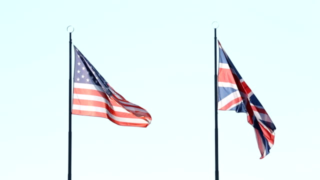 Flags of USA and UK countries video