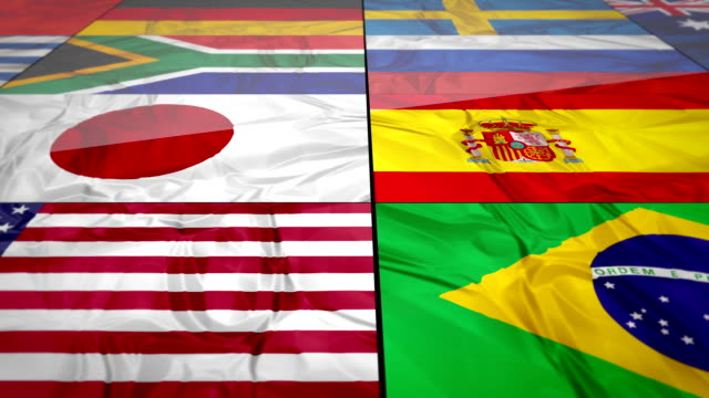 Flags of world contries video