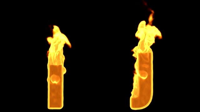 I -J. Alev yanan ateş alfabesi video