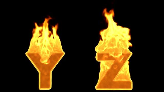 Y - Z. Alev yanan ateş alfabesi video