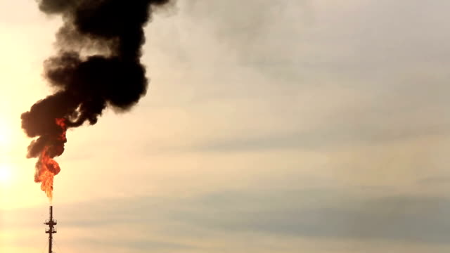 HD: Flame from Oil Refinery plant video