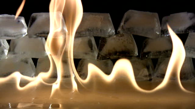 fiamma - ice on fire video stock e b–roll