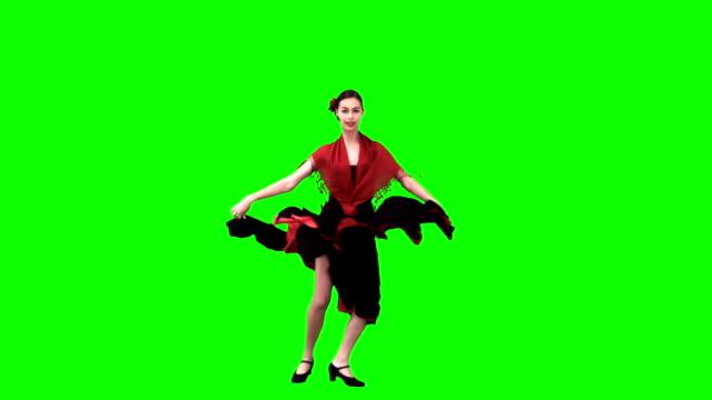 flamenco-tänzerin in zeitlupe - tanzkunst stock-videos und b-roll-filmmaterial