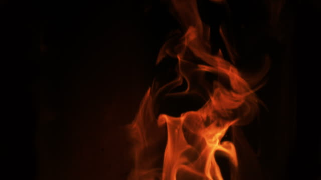 Flames in a pellet stove, Slow motion 4K