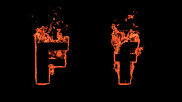 Flaming Alphabet - F video