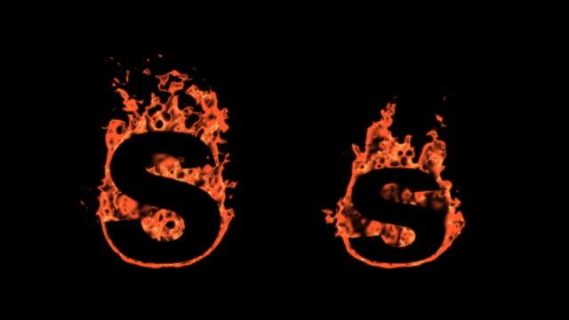 Flaming Alphabet - S video