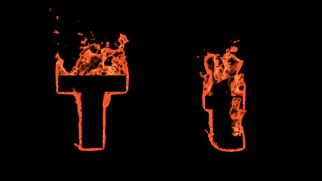 Flaming Alphabet - T video
