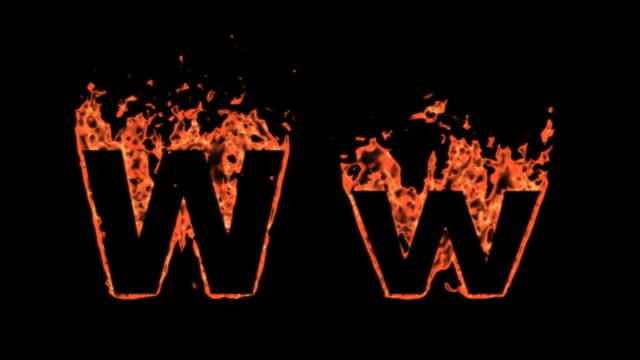 Flaming Alphabet-W – Video