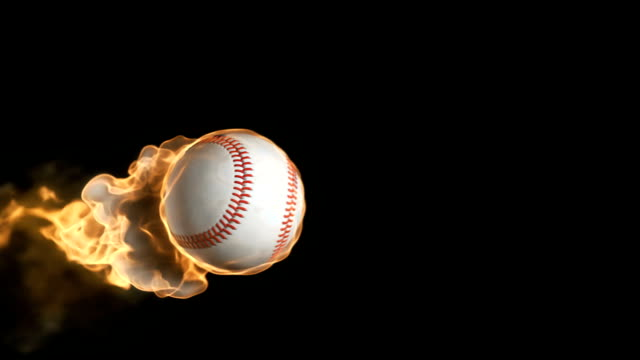 Flaming baseball – Video