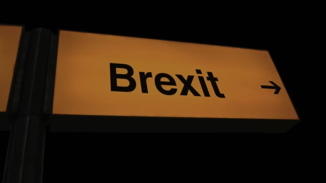 Flashing Broken Airport Brexit Sign