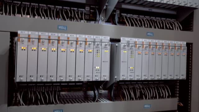 Flashing LEDs of Internet, ethernet equipment indicate huge data traffic
