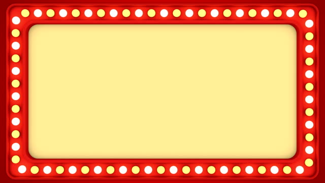 Flashing light bulbs red frame border screen sign casino background loop 4K Casino vintage border frame animation. Seamless loop background. For text, titles or other information. electric light stock videos & royalty-free footage