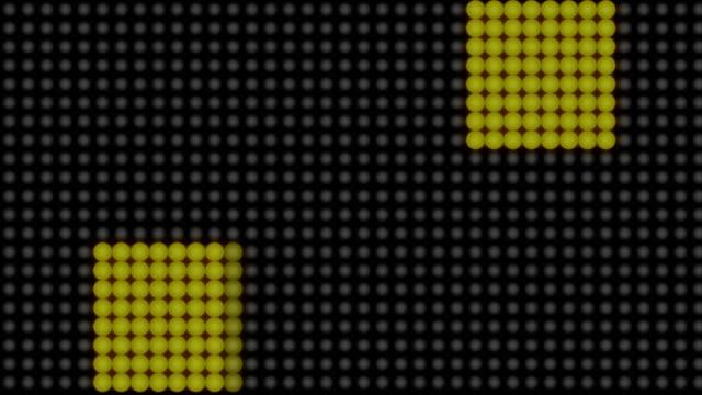 Flashing lights on a background. Technology backdrop video
