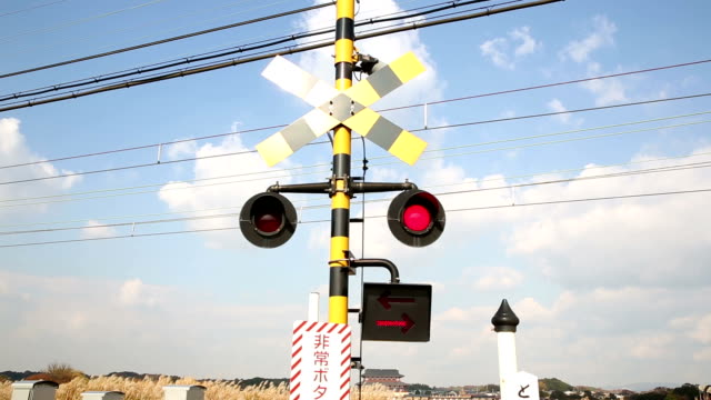 HD: Flashing Railroad Signal video