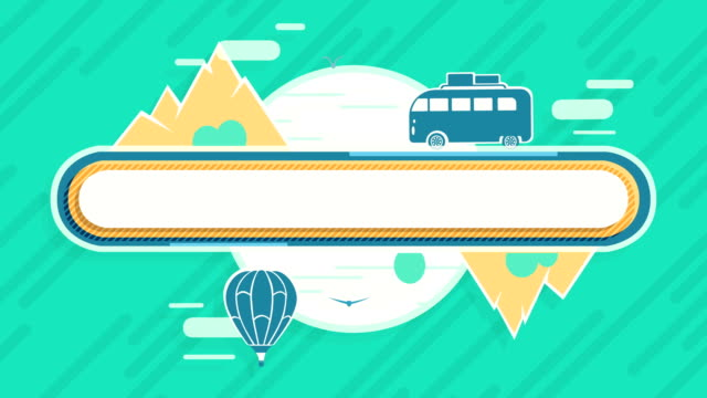 Flat Animated Background Tourism and Travel video