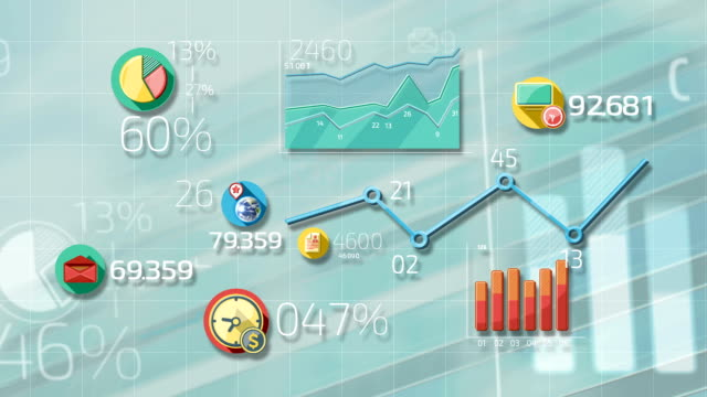 flat animated icons business infographics - business symbols stock videos & royalty-free footage