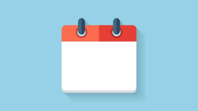 vídeos de stock, filmes e b-roll de plano de animação de ícone de calendário com a data de 25 - calendário