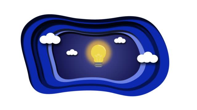 Flat design vector business illustration concept Creative idea, Animation
