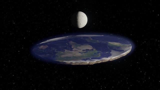 vidéos et rushes de flat earth theory animation - horizontal