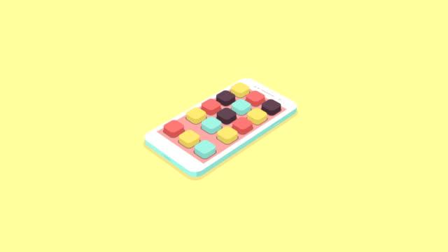 legen sie flach isometrische smartphone mit app-symbole - kalender icon stock-videos und b-roll-filmmaterial