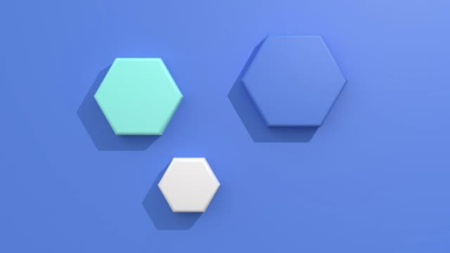flat lay/flat blue background 3d rendering motion graphic geometric shape - kompozycja flat lay filmów i materiałów b-roll