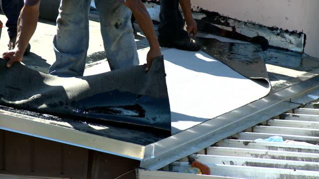 HD: Flat roof installation - Part Three video