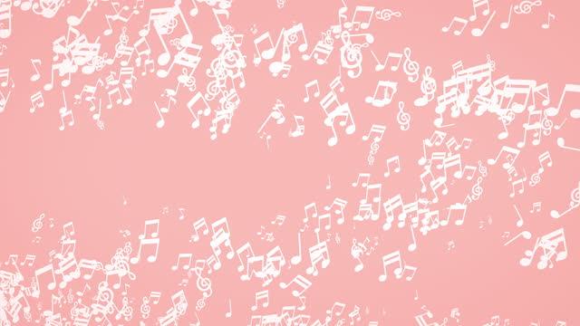 Flat simple Musical notes [loop]