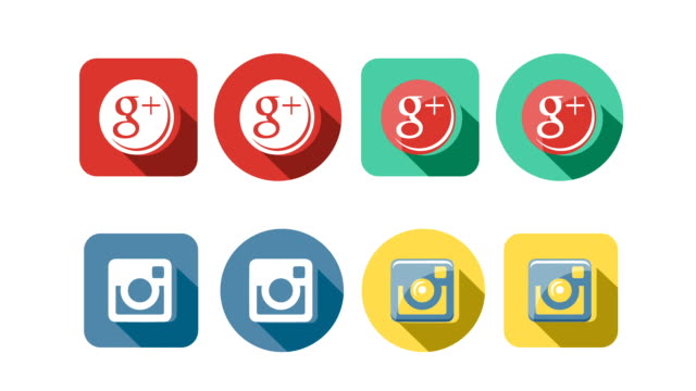 Flat Style Animated Social Icons video