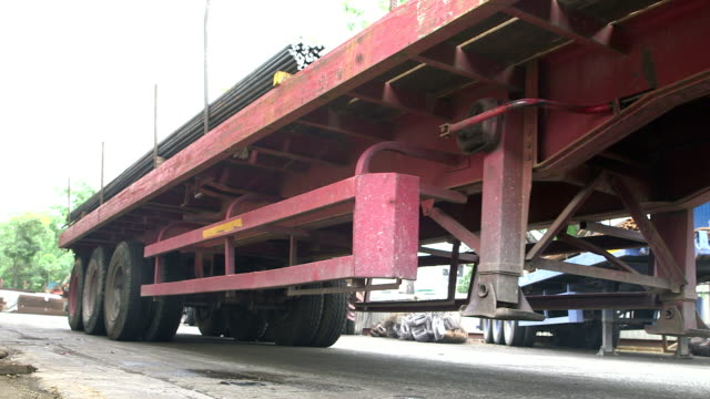 Flatbed Truck with Load of Steels video