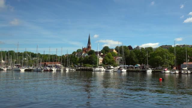 Flensburg cityscape on summer day Flensburg cityscape on summer day wasser videos stock videos & royalty-free footage