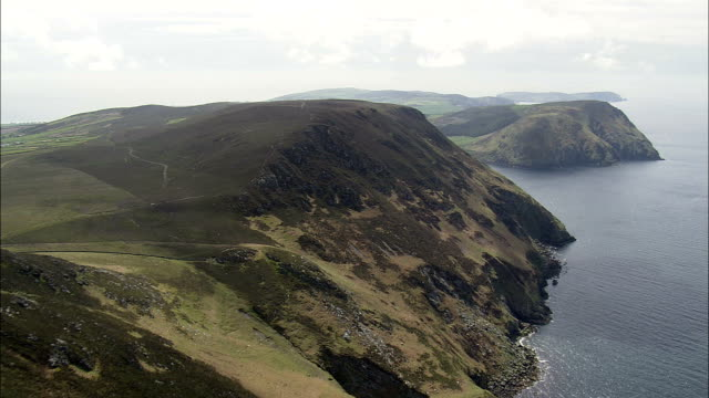Fleshwick Bay And Cliffs  - Aerial View -, Isle of Man video