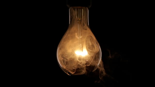 Flicker and explosion of a filament lamp