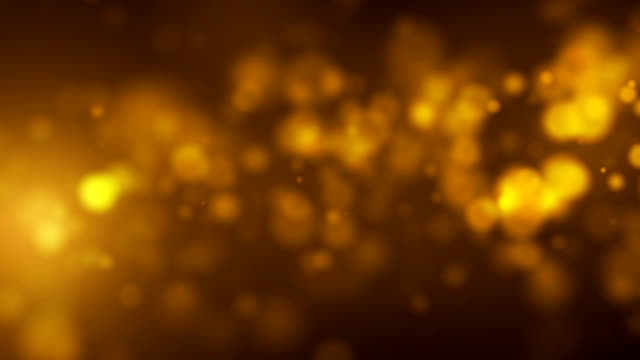Flickering Background With Golden Particles video