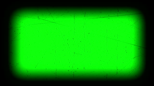 Flickering Film Strip With Dust And Scratches Green Screen