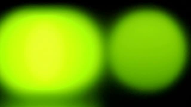 Flickering lights, close up video