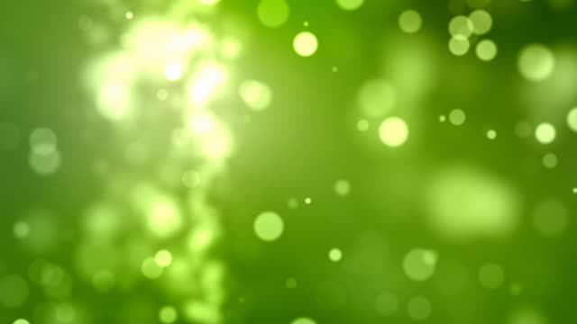 Flickering Particles Background Loop - Green (Full HD) video