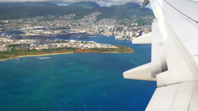 Flight above Oahu Hawaii in 4K Slow motion 60fps Flight above Oahu Hawaii in 4K Slow motion 60fps big island hawaii islands stock videos & royalty-free footage