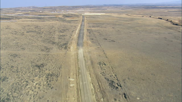 Flight Across Interstate 80  - Aerial View - Wyoming, Carbon County, United States video