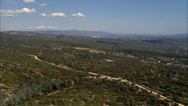 Flight Across Maquis Landscape West Of Gordes  - Aerial View - Provence-Alpes-Côte d'Azur, Vaucluse, Arrondissement d'Avignon, France video