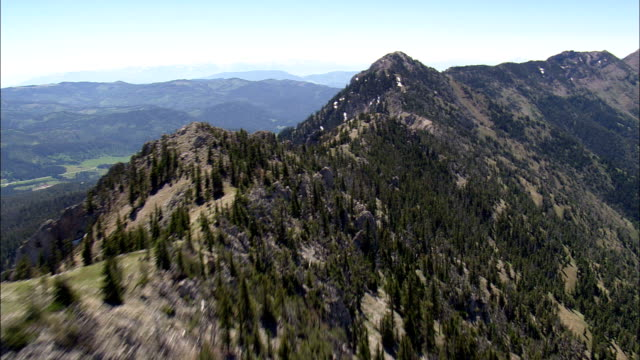 Flight Along Ridge In Crazy Mountains  - Aerial View - Montana, Gallatin County, United States