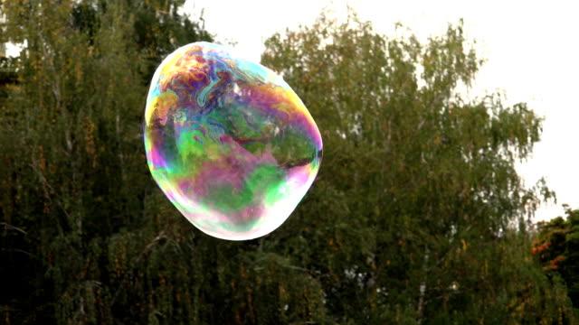 Flight and Death of a big soap Bubble video