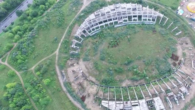 Flight Around Abandoned Stadium Near Supermarket 2 video