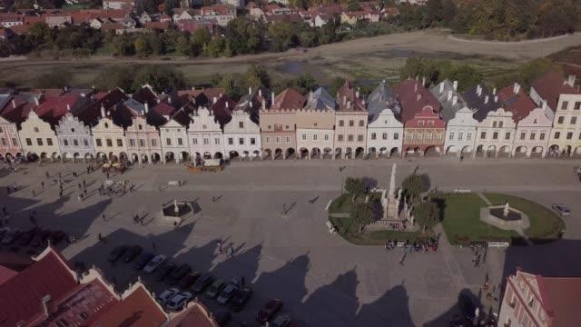 Flight around old town Telc, southern Moravia, Czech Republic. Original untouched LOG format. video