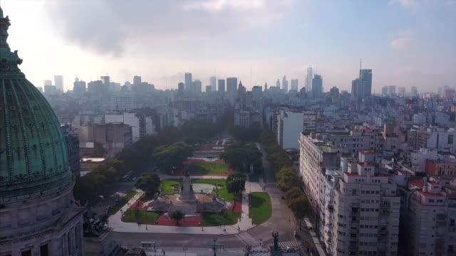 flight around the congress building - argentyna filmów i materiałów b-roll