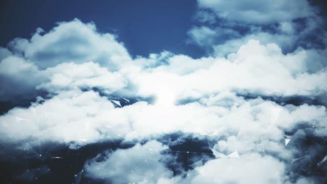 Flight Between Clouds