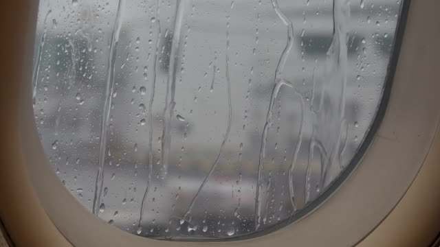 Flight delayed due to weather conditions video