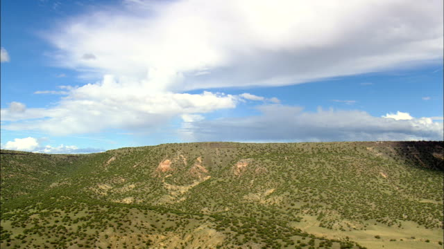 Flight Following Edge Of Escarpment  - Aerial View - New Mexico, Catron County, United States